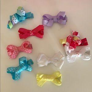 Set of 9 Baby Hair Bows